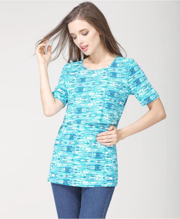 blue-aqua-tricou-gravida-alaptare 0