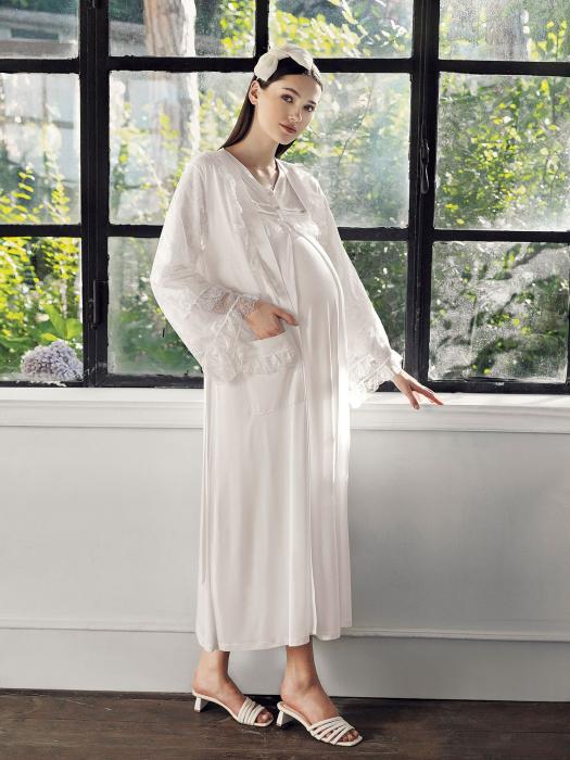 blush-selena-set-2-piese-camasa-noapte-si-halat-sarcina-si-maternitate 2