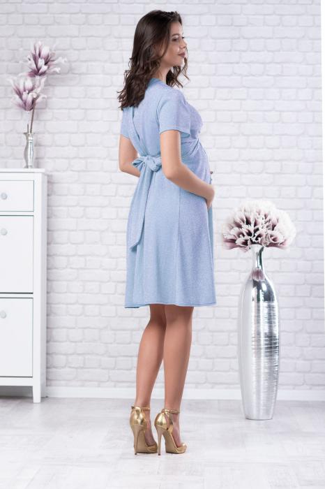 Brilliant Blue - Rochie Eleganta Gravide si Alaptare 3