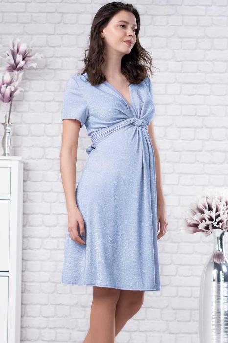 Brilliant Blue - Rochie Eleganta Gravide si Alaptare 0