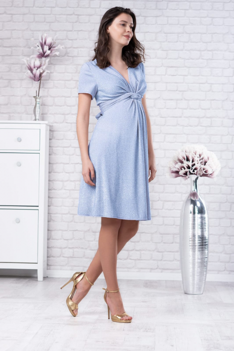 Brilliant Blue - Rochie Eleganta Gravide si Alaptare 2
