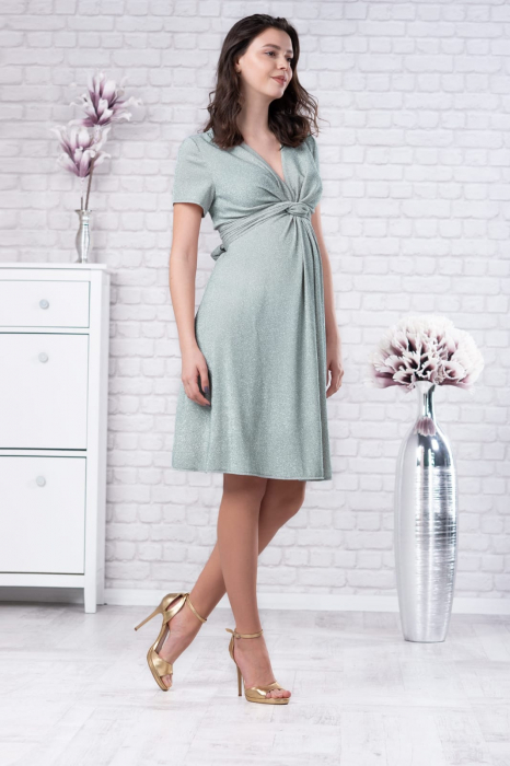 Brilliant Mint - Rochie Eleganta Gravide si Alaptare 3