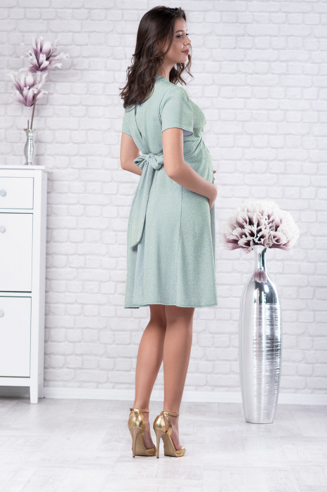 Brilliant Mint - Rochie Eleganta Gravide si Alaptare 2