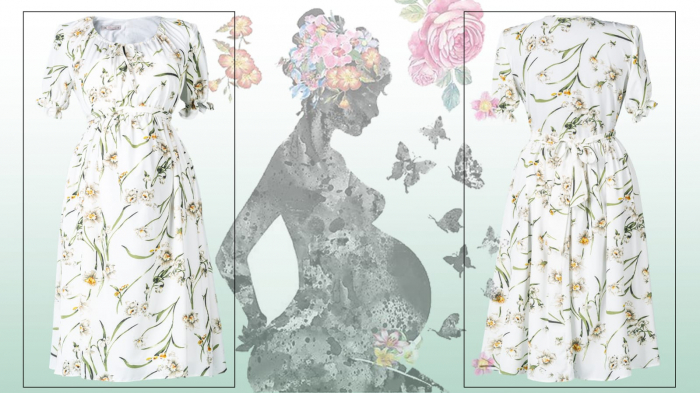 flower-marisol-rochie-gravida-eleganta 2
