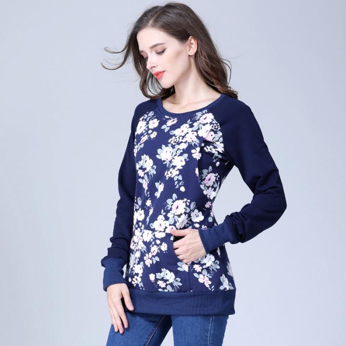 Hanorac Blue Rose - Bluza Gravida si pt Alaptare 0