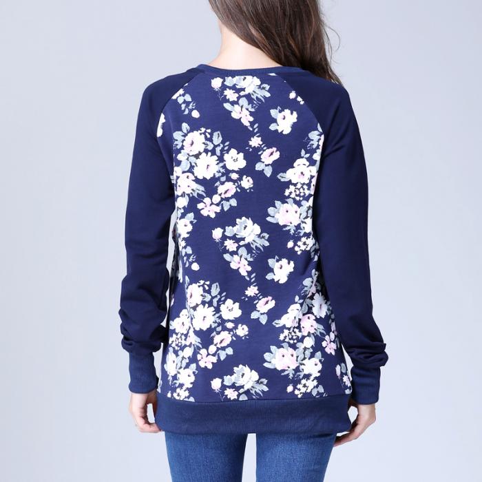 Hanorac Blue Rose - Bluza Gravida si pt Alaptare 4