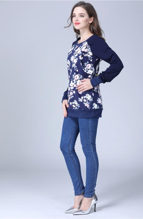 Hanorac Blue Rose - Bluza Gravida si pt Alaptare 3