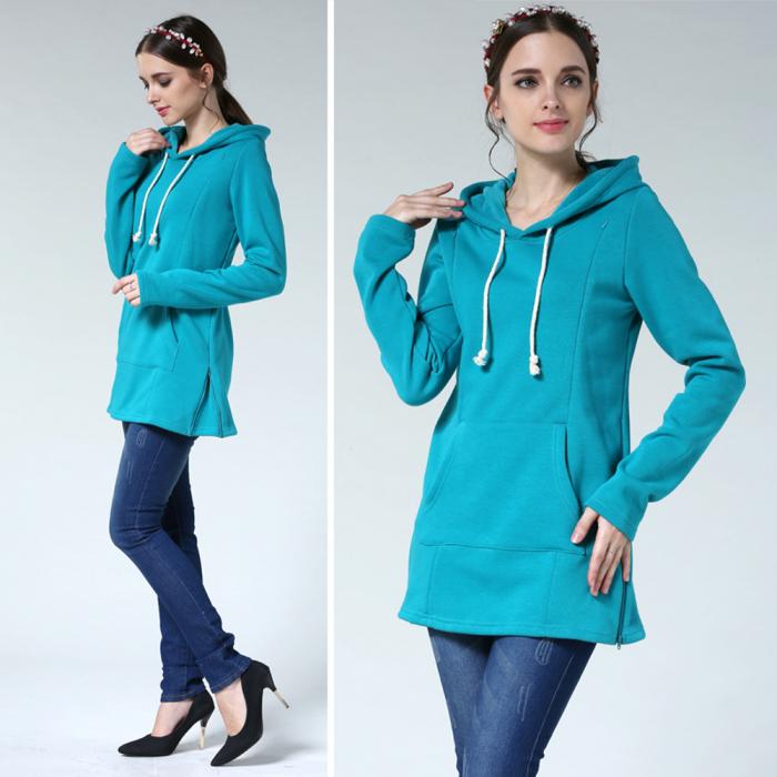 hanorac-flausat-blue-aqua-bluza-gravide-alaptare 5