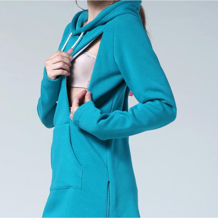 hanorac-flausat-blue-aqua-bluza-gravide-alaptare 3