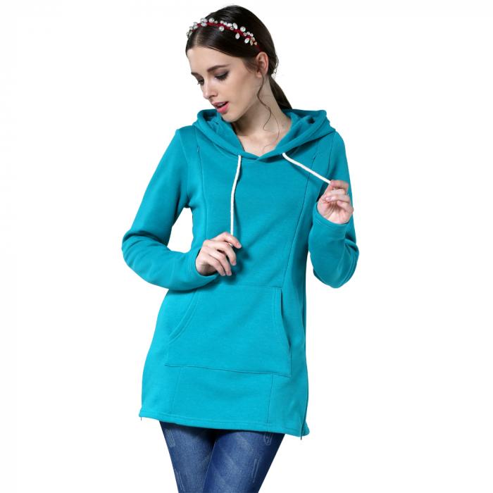 hanorac-flausat-blue-aqua-bluza-gravide-alaptare 2