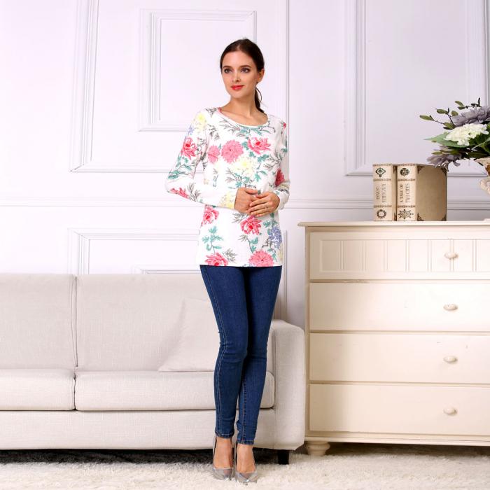 Happy Flower - Bluza alaptare cu imprimeu vesel 0