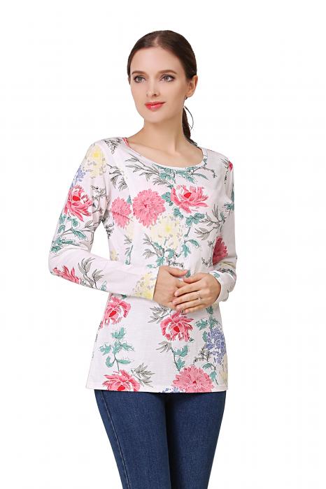 Happy Flower - Bluza alaptare cu imprimeu vesel 1