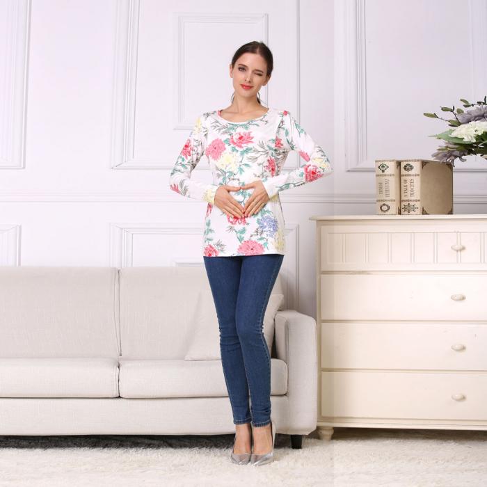 Happy Flower - Bluza alaptare cu imprimeu vesel 4