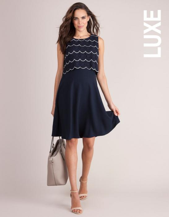 Luxe Navy - Rochie Eleganta Sarcina & Alaptare 0