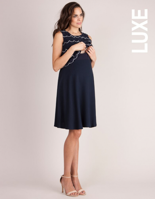 Luxe Navy - Rochie Eleganta Sarcina & Alaptare 1