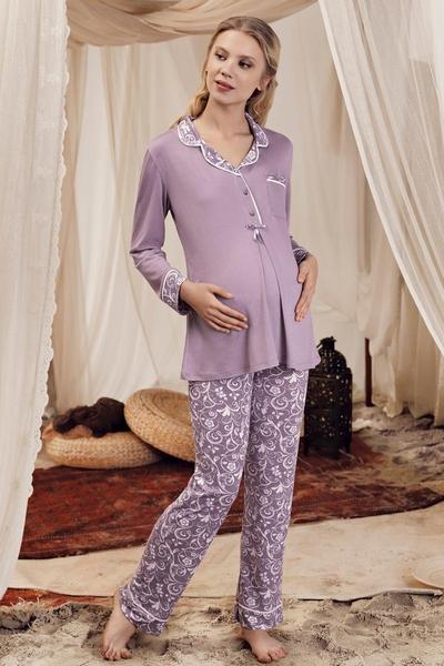 purple-angela-pijama-gravida-si-alaptare 0