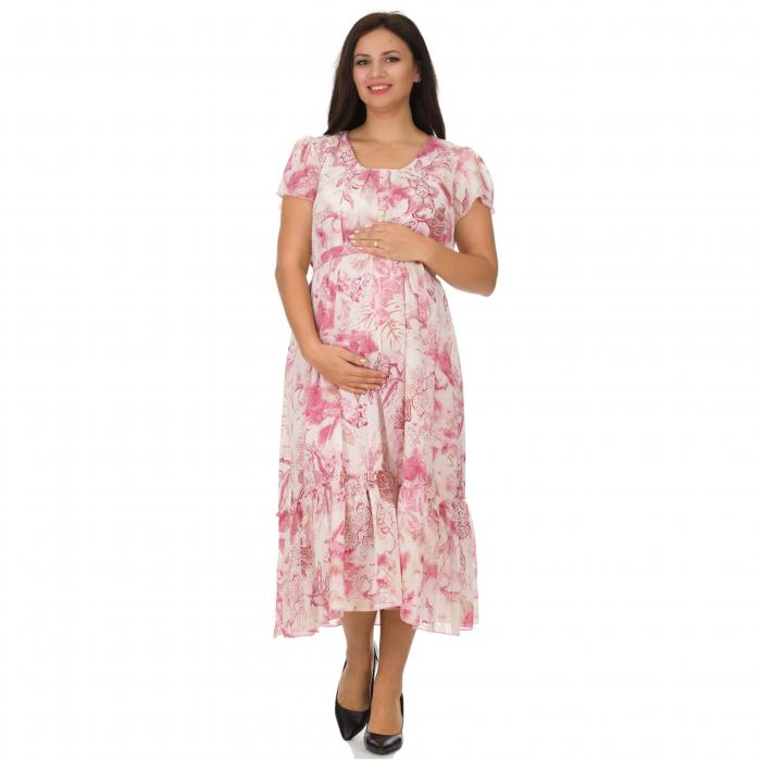 Pink-flora-rochie-eleganta-gravide [4]
