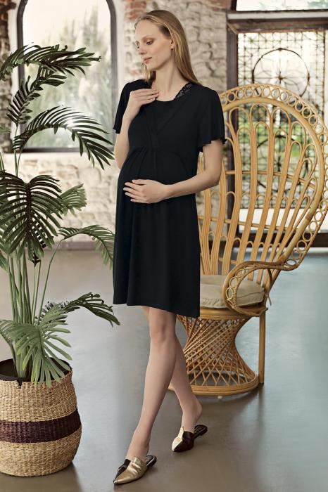Black-midnight-in-paris-camasa-de-noapte-gravida-alaptare [0]