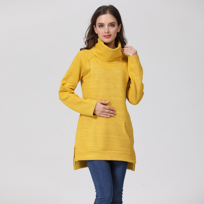 Pulover Gros Yellow Winter, pentru gravide si alaptare 0