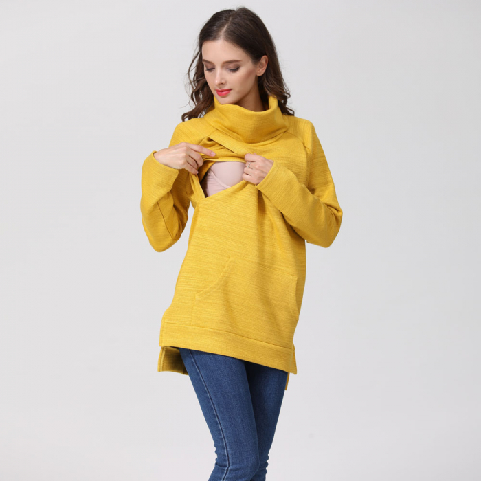 Pulover Gros Yellow Winter, pentru gravide si alaptare 11