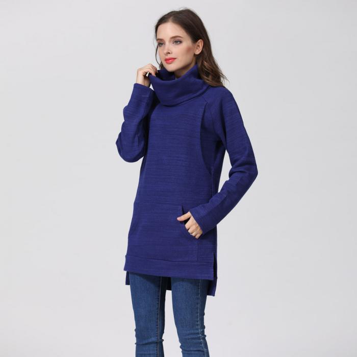Pulover Gros Blue Winter, pentru gravide si alaptare 0