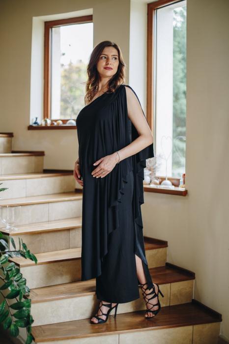 Roma Black - Rochie Eleganta Gravida, marimi mari 0