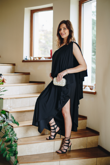 Roma Black - Rochie Eleganta Gravida, marimi mari 2