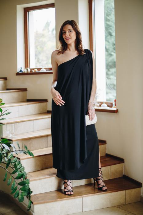 Roma Black - Rochie Eleganta Gravida, marimi mari 1