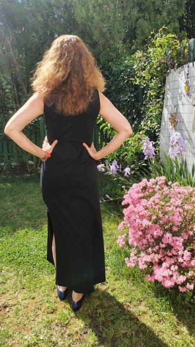 simple-black-rochie-neagra-lunga-sarcina-alaptare 2