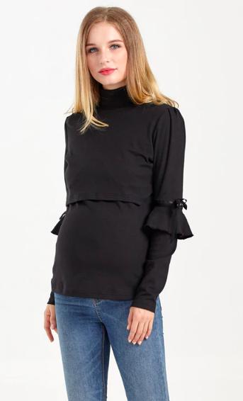 Soft Black - Bluza Gravida & Alaptare, L, Transport Gratuit [2]