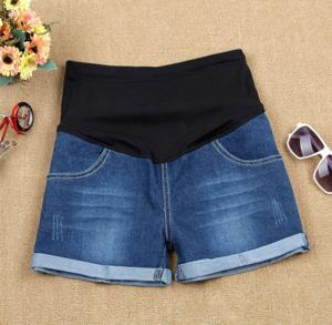 Pantaloni scurti de jeans pentru gravida - Pantaloni Gravide - Hotmama.ro 0
