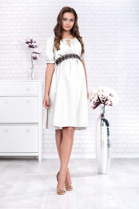 White Marisol - Rochie Gravida Eleganta 1