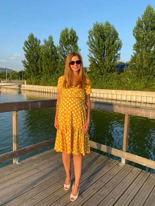 yellow-dots-rochie-eleganta-gravide [2]