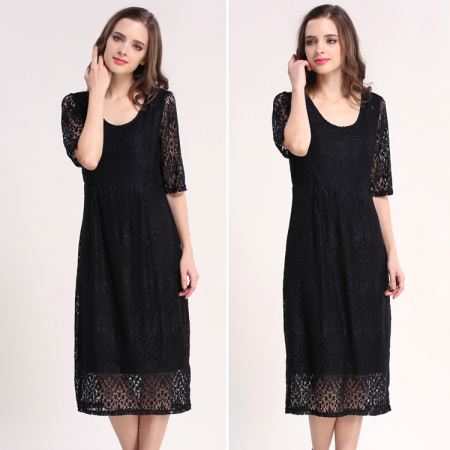 Black Lace - Rochie Eleganta Gravida & Alaptare, Transport Gratuit5