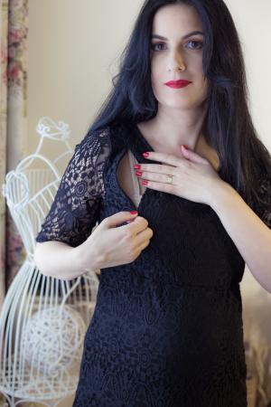 Black Lace - Rochie Eleganta Gravida & Alaptare, Transport Gratuit2
