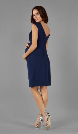 Blue Elegance- Rochie Eleganta Gravida cu bust dantelat, Transport Gratuit2