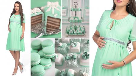 Luxe Mint - Rochie Gravida Eleganta [5]