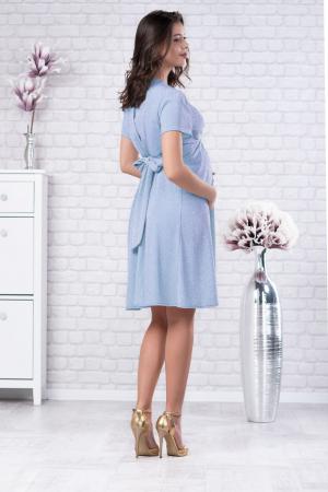Brilliant Blue - Rochie Eleganta din lurex Premium pentru Gravide & Maternitate, Transport Gratuit3