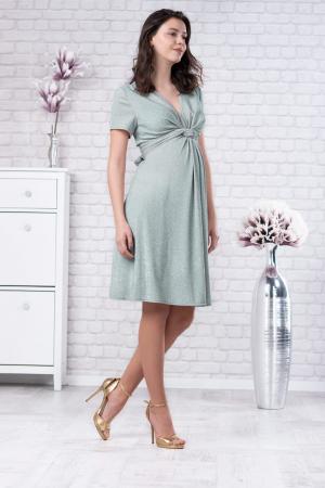 Brilliant Mint - Rochie Eleganta din lurex Premium pentru Gravide & Maternitate, Transport Gratuit3