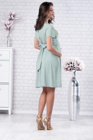 Brilliant Mint - Rochie Eleganta din lurex Premium pentru Gravide & Maternitate, Transport Gratuit2
