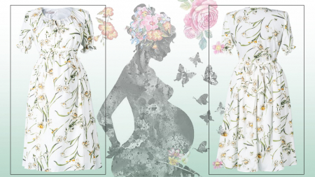 Flower Marisol - Rochie Gravida Eleganta, Transport Gratuit2