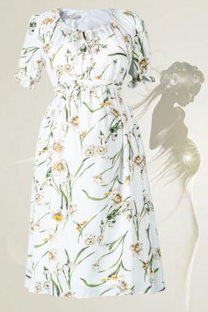 Flower Marisol - Rochie Gravida Eleganta, Transport Gratuit0