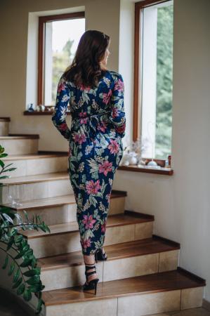 Flower Velvet Blue - Rochie Eleganta Gravida & Alaptare, Transport Gratuit4