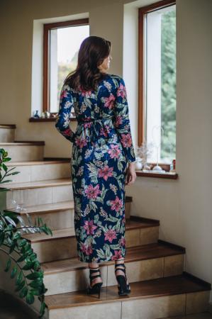 Flower Velvet Blue - Rochie Eleganta Gravida & Alaptare, Transport Gratuit5
