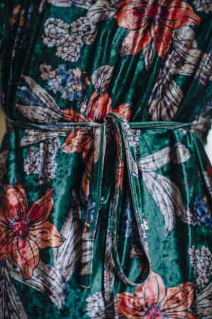 Flower Velvet Green - Rochie Eleganta Gravida & Alaptare, Transport Gratuit2