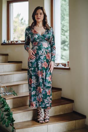 Flower Velvet Green - Rochie Eleganta Gravida & Alaptare, Transport Gratuit6