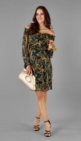 Gold Elegance - Rochie Gravida & Maternitate, Transport Gratuit1