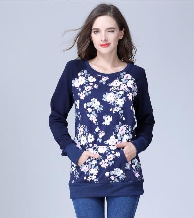 Hanorac Blue Rose - Bluza Calduroasa Gravida si Alaptare2