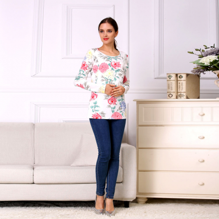 Happy Flower - Bluza alaptare cu imprimeu vesel0