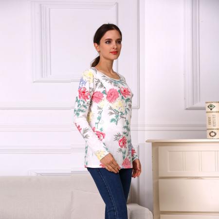 Happy Flower - Bluza alaptare cu imprimeu vesel3